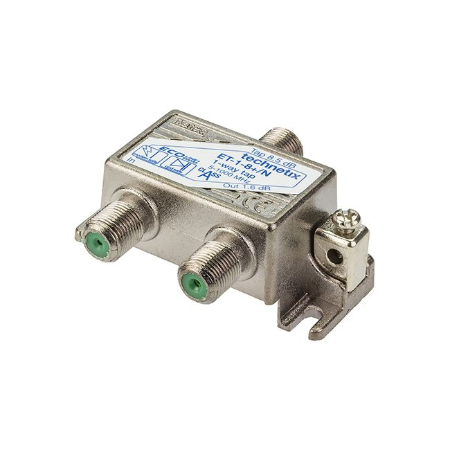 1-way 1 GHz 8 dB Ecoline-series tap with grounding block
