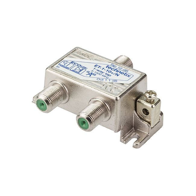 1-way 1 GHz 10 dB Ecoline-series tap with grounding block