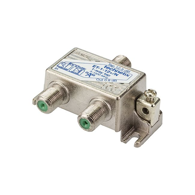 1-way 1 GHz 12 dB Ecoline-series tap with grounding block