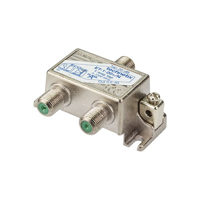 1-way 1 GHz 20 dB Ecoline-series tap with grounding block