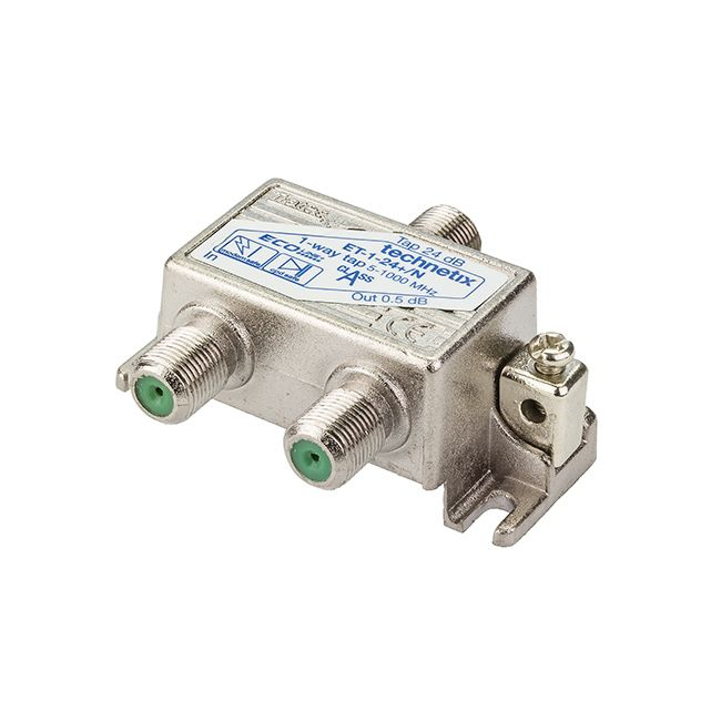 1-way 1 GHz 24 dB Ecoline-series tap with grounding block