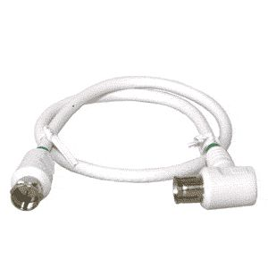 0.4-meter RLA75-series white F-male to IEC-female jumper cable