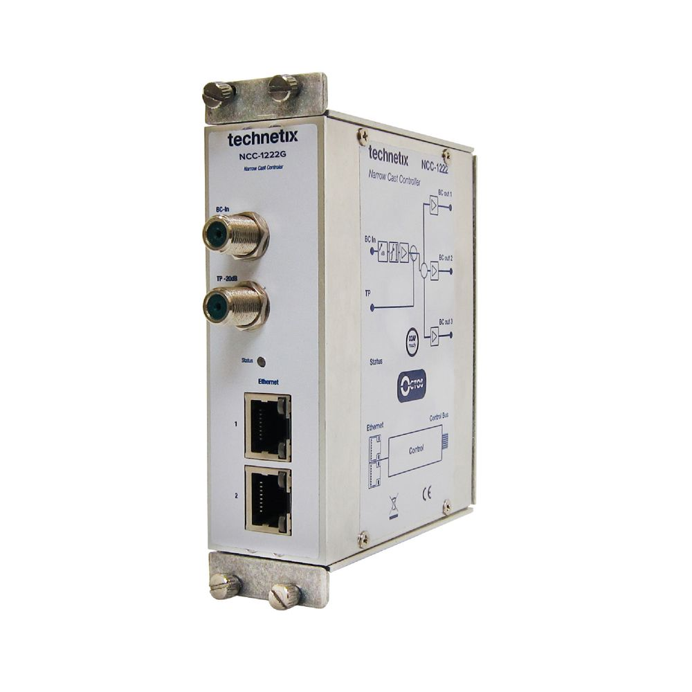NCI-series controller module with BC amplifier and web control
