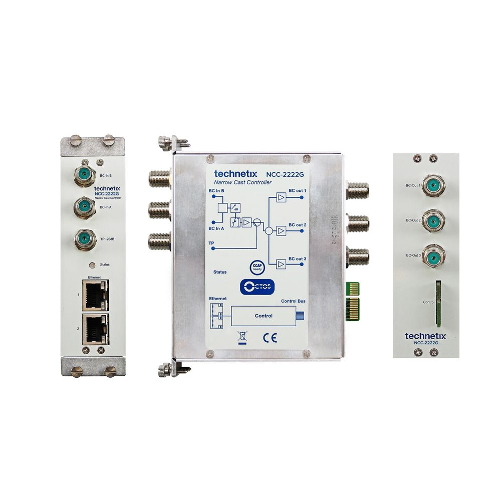 NCI-series controller module with dual BC amplifier and web control