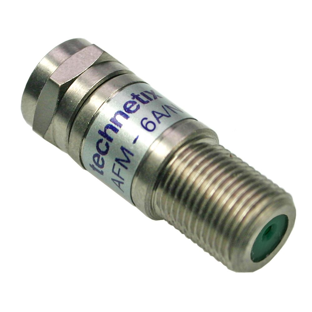 3 GHz 6 dB F-male to F-female inline precision attenuator