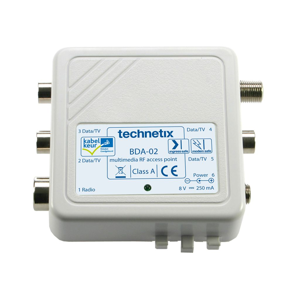 4-way 1 GHz 4.5 dB in-home push-on amplifier