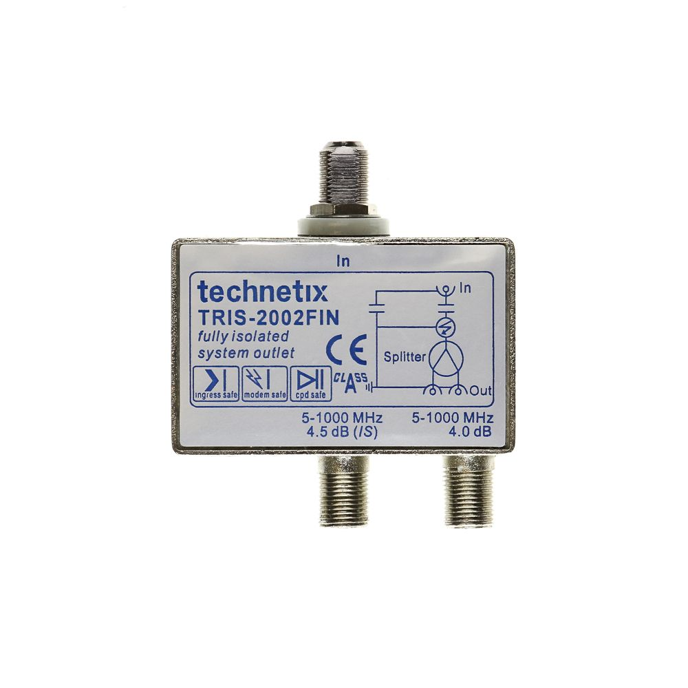 Dual-output 1 GHz TRIS-series Data/TV double galvanic isolator