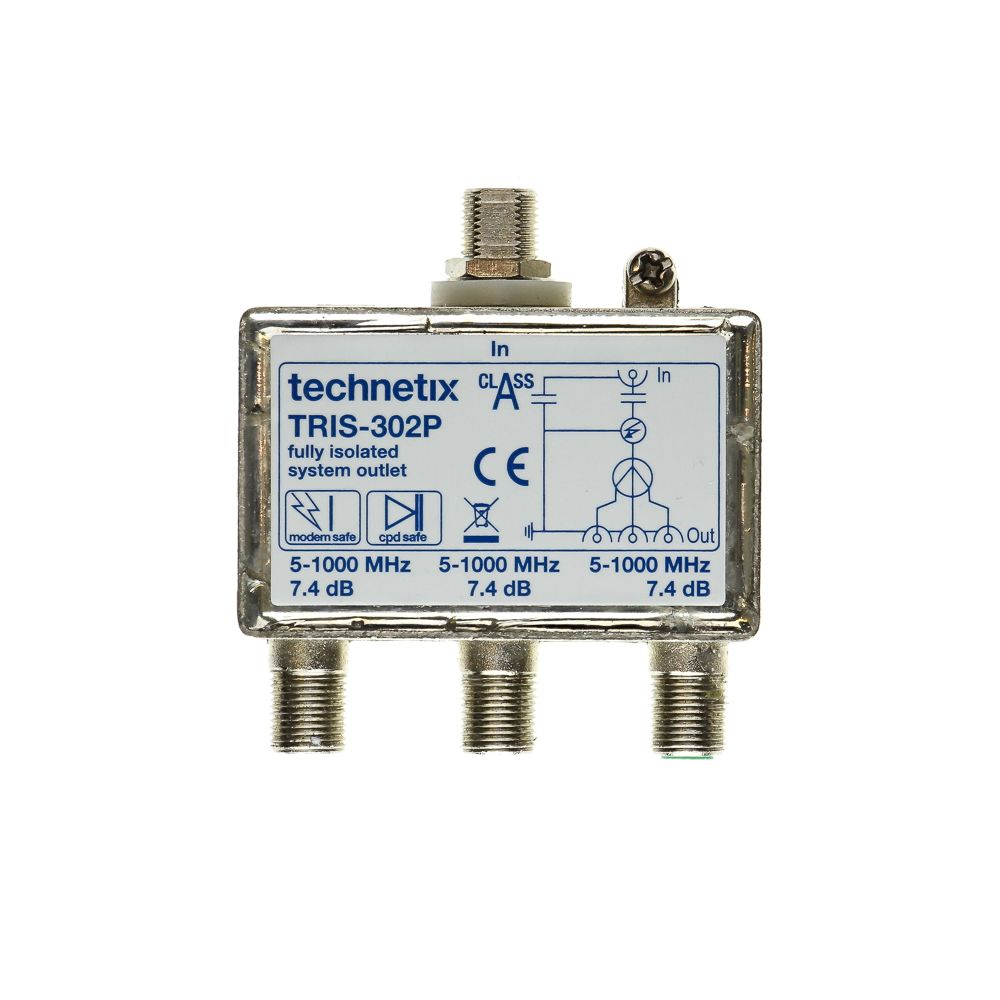 Triple-output 1 GHz TRIS-series Data/TV double galvanic isolator