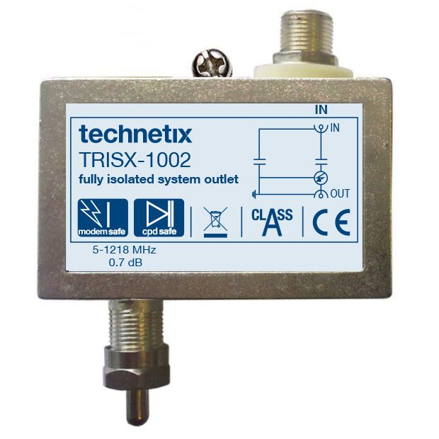 Single-output 1.2 GHz TRIS-series digital TV double galvanic isolator