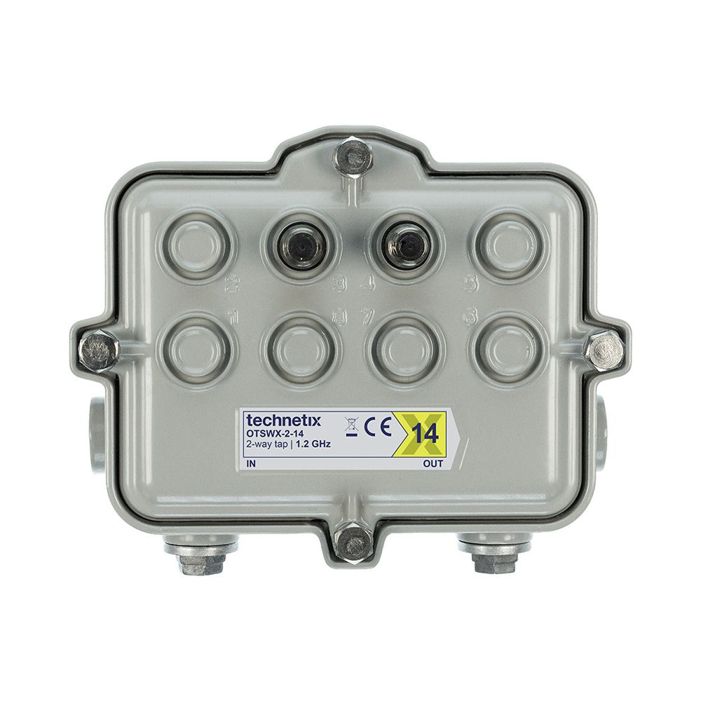 2-way 1.2 GHz 14 dB SA-style wide body outdoor tap