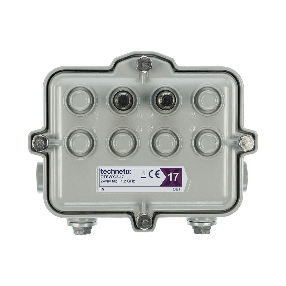 2-way 1.2 GHz 17 dB SA-style wide body outdoor tap