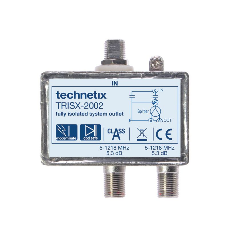 Dual-output 1.2 GHz TRIS-series double galvanic isolator with grounding block