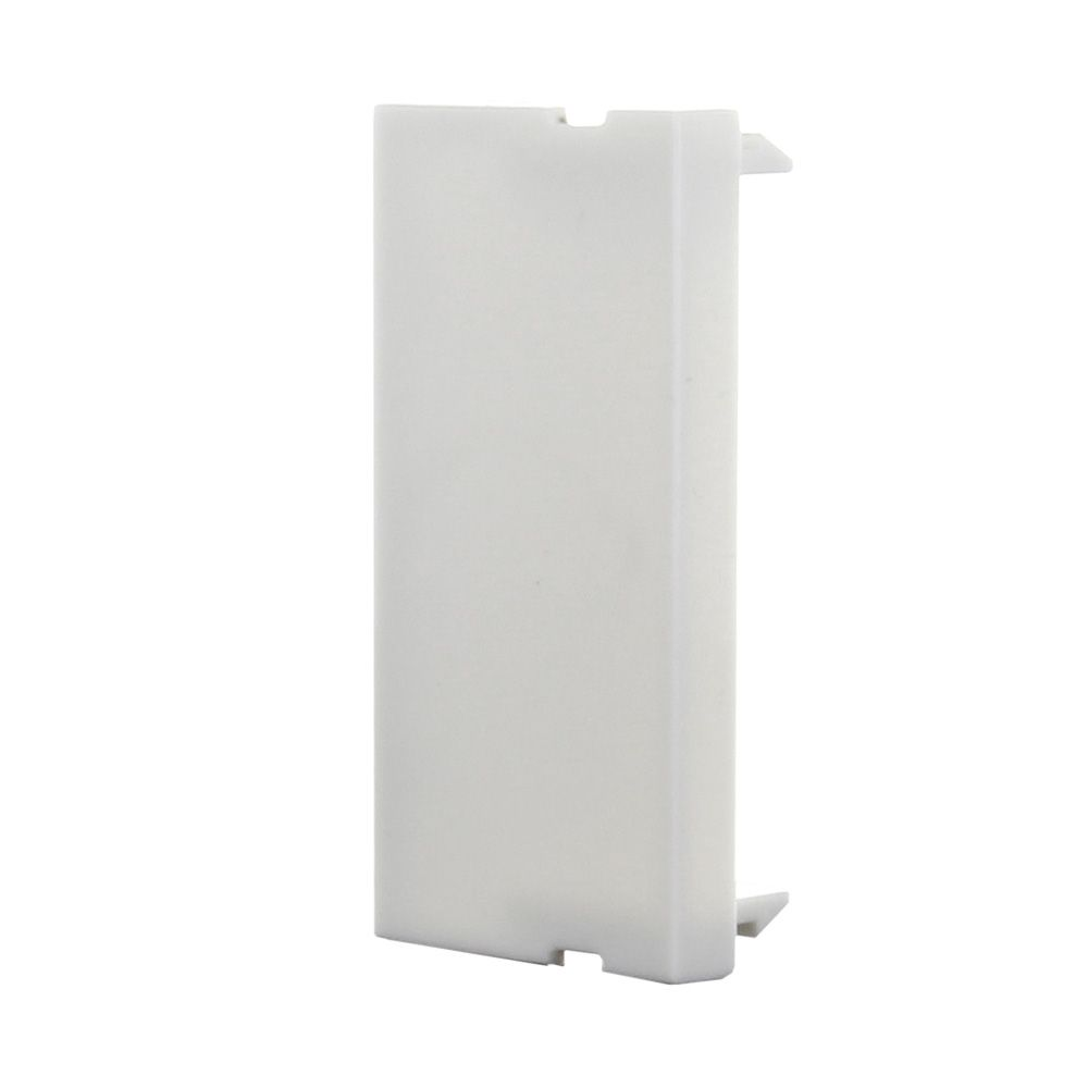 Click50 blank panel (single-slot) (pure white)