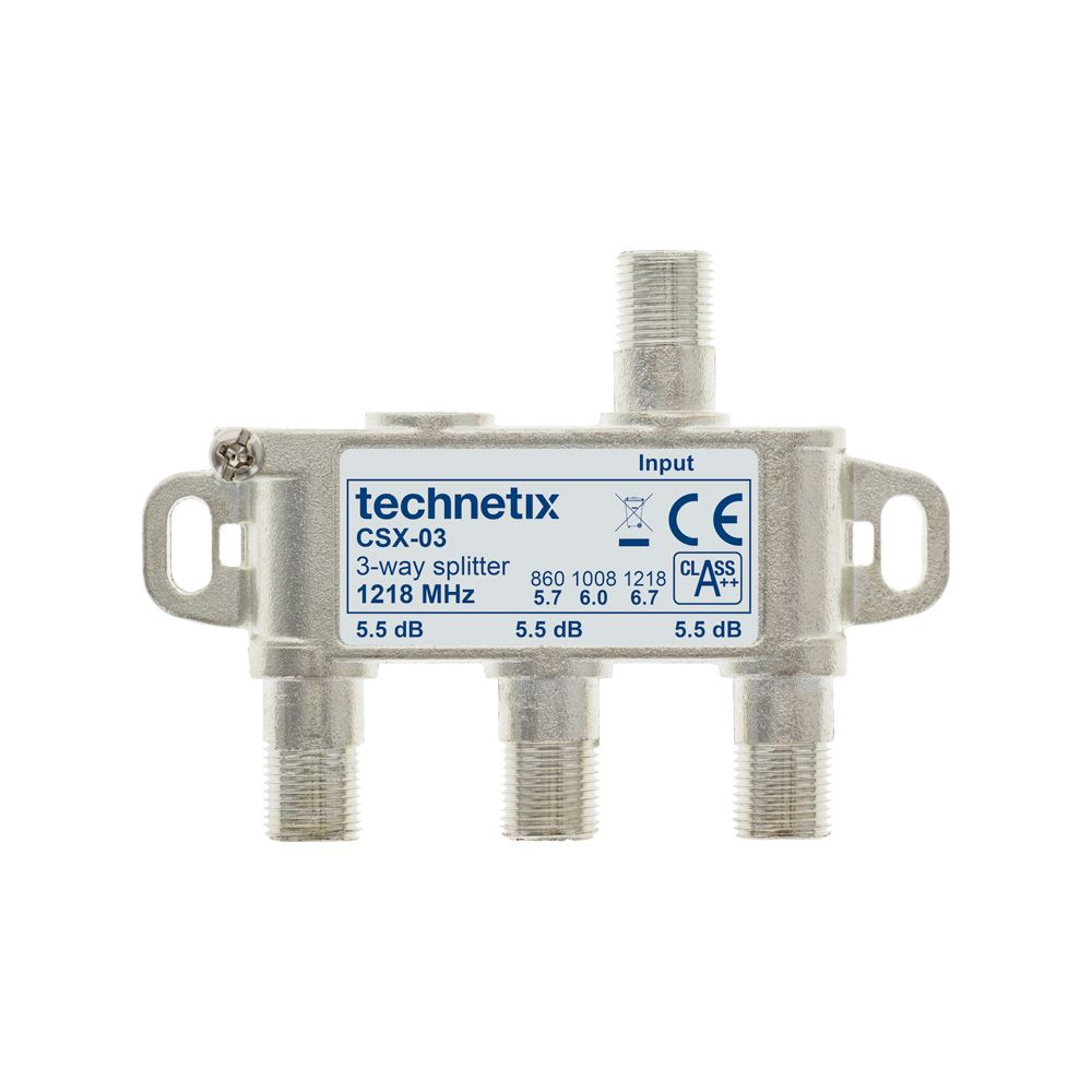 3-way 1.2 GHz Core-series in-line splitter