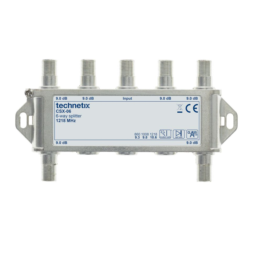 6-way 1.2 GHz Core-series in-line splitter