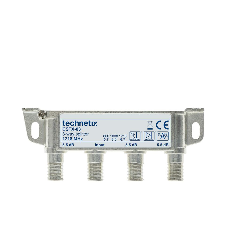 3-way 1.2 GHz Core-series topless splitter