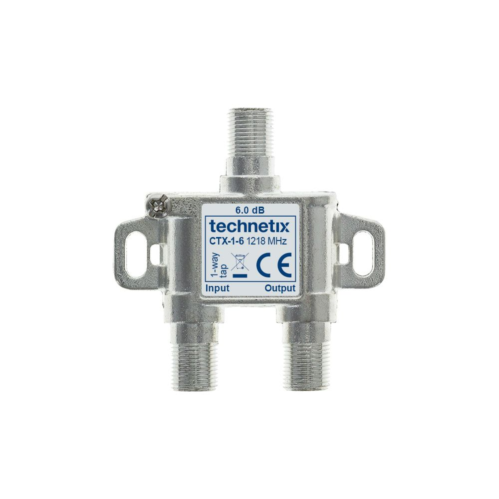 1-way 1.2 GHz Core-series in-line tap 6 dB