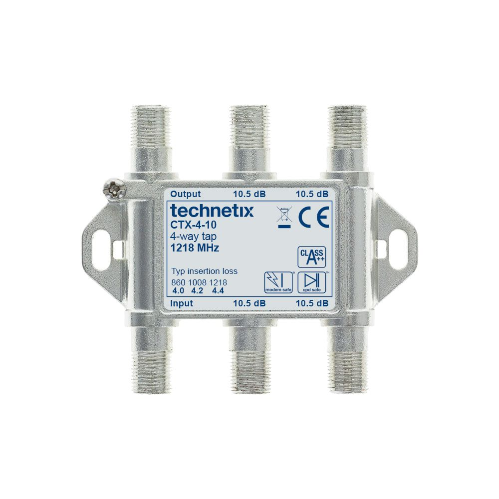 4-Way 1.2 GHz Core-series in-line tap 10 dB