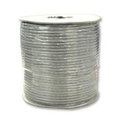 WIRE; 4C 28AWG UL TELEPHONE SILVER SATIN FLAT STRANDED ON TIN SPOOL REEL 1000 FT