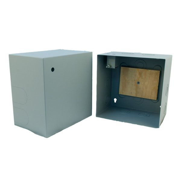BOX; BEAST NON-HINGED  12HX12WX8D GRAY PEM MOUNTED PLYWOOD BACKBOARD STANDARD KNOCKOUTS *LOCK NOT INSTALLED MUST ORDER SEPARATELY* CONFIGURED FOR PADLOCK STYLE DE470-0-DX