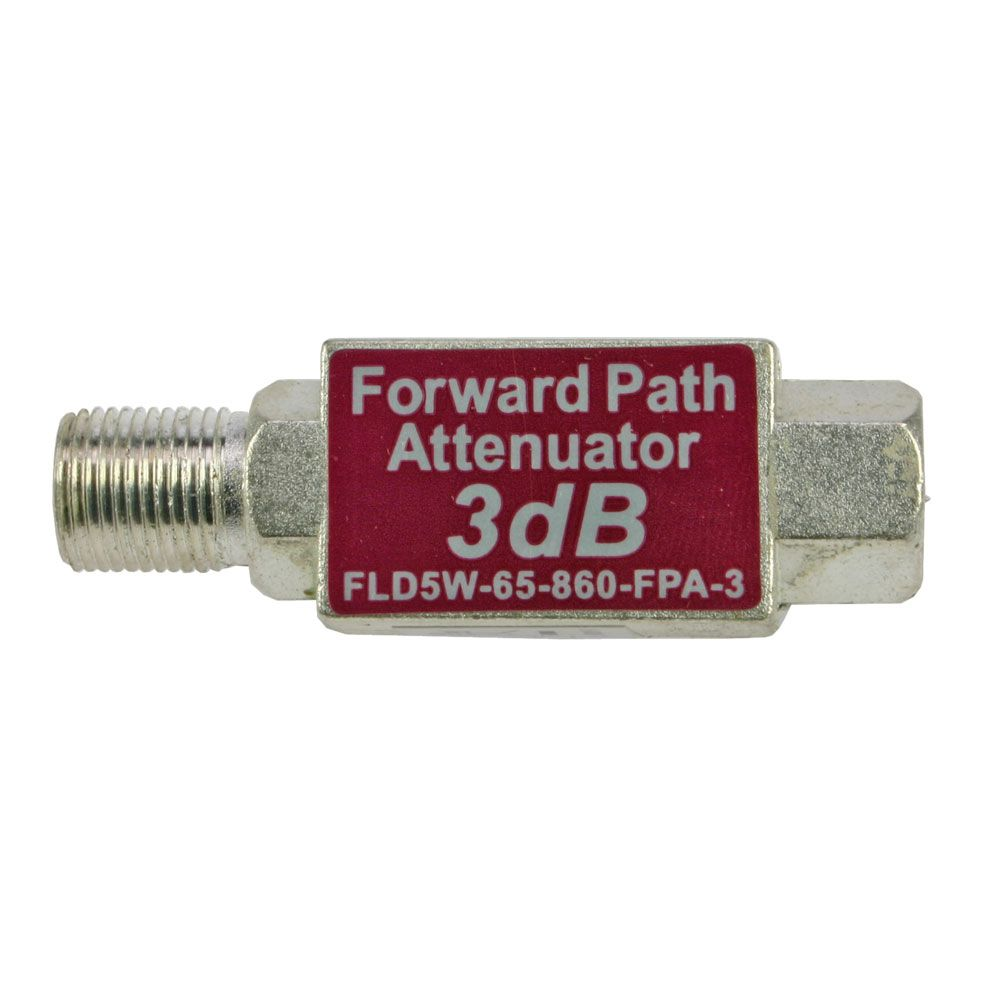 3 dB F-male to F-female inline forward path attenuator