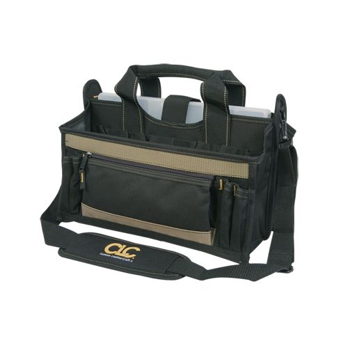 BAG; TOOL 16LX9WX9H 15 POCKETS W/ MULTI-COMPARTMENT PLASTIC TRAY