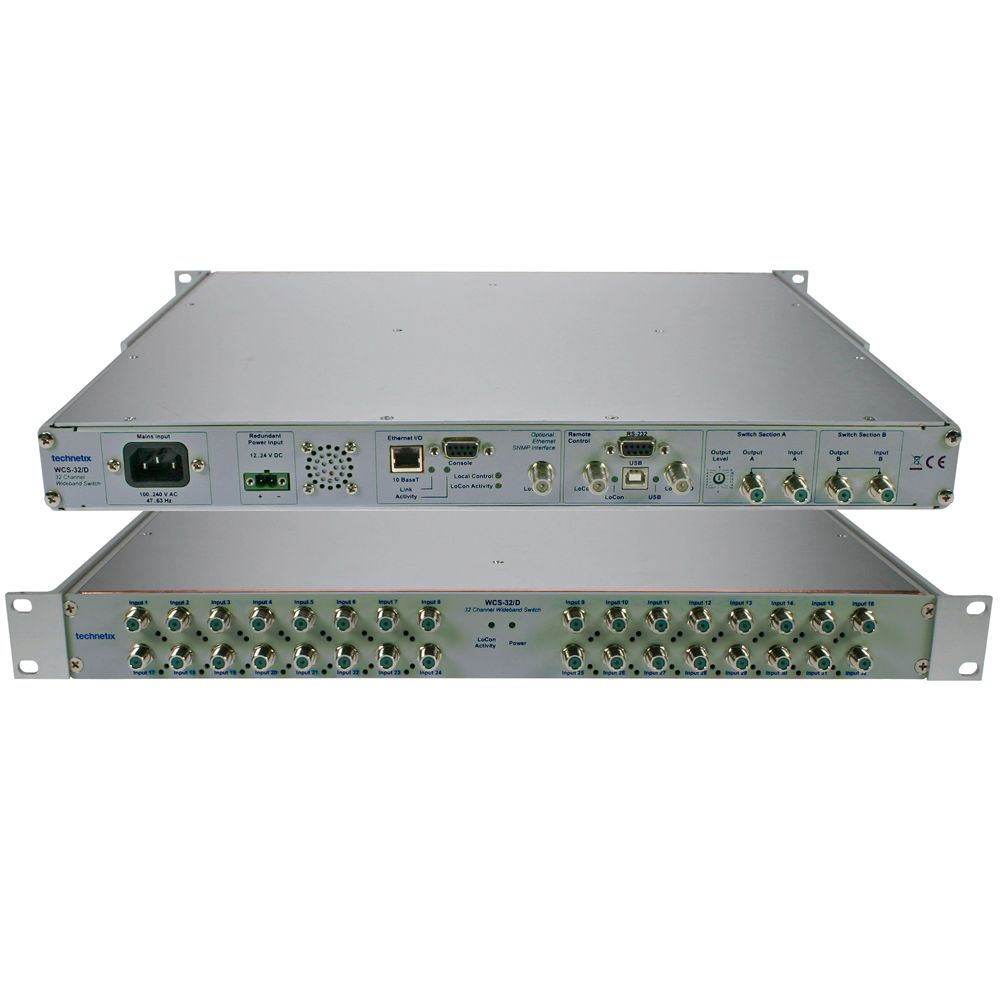 Dual wideband 32 channel switch with SNMP interface