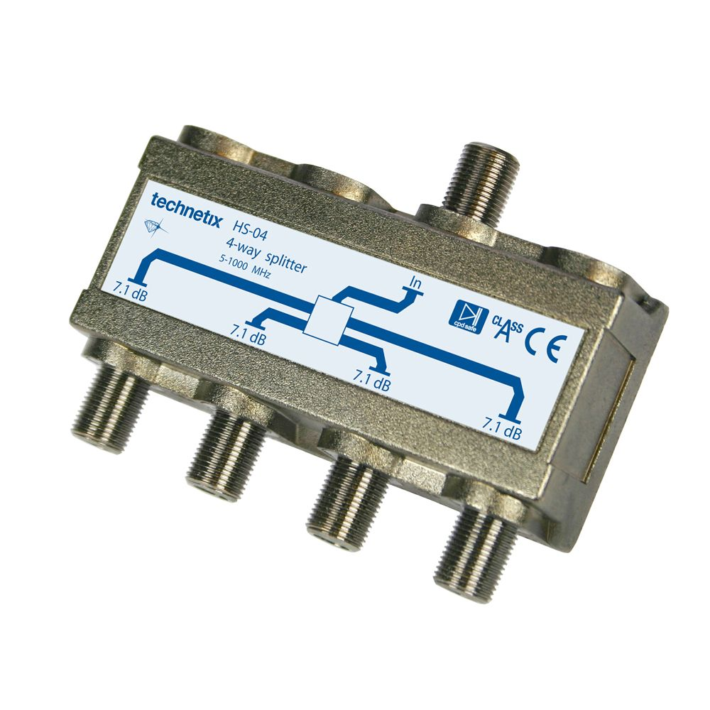 4-WAY HQ HEADEND SPLITTER 1GHZ PANEL MOUNTING