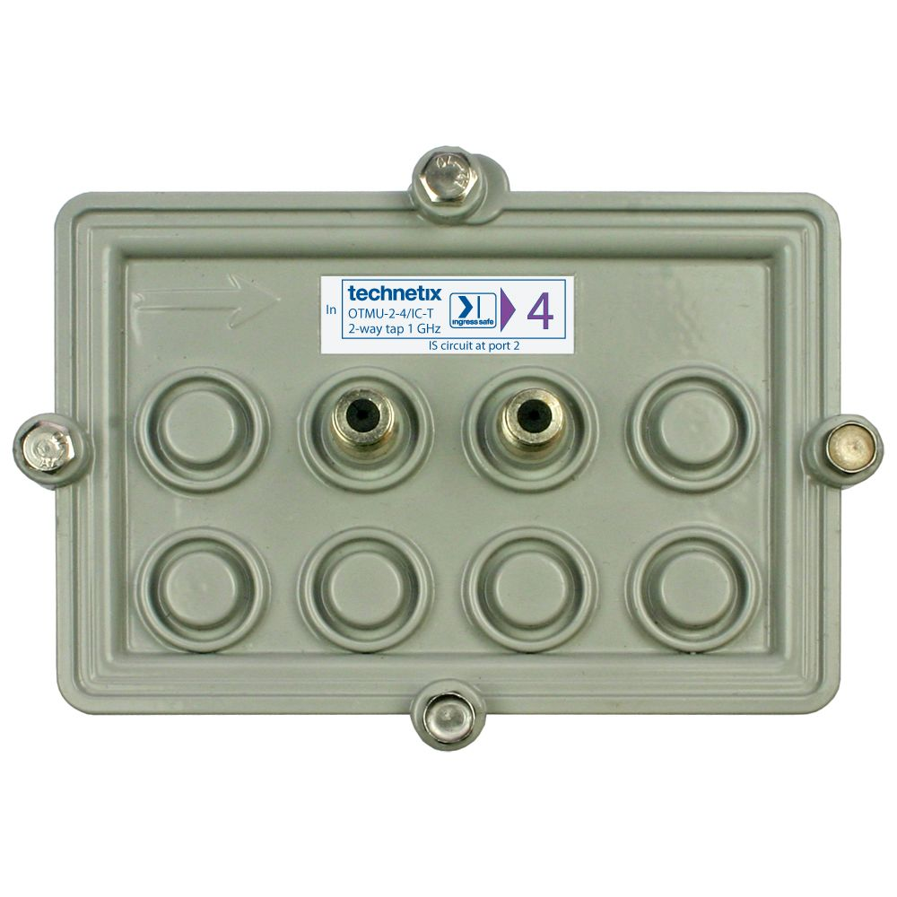 2-way 1 GHz 23 dB Motorola-style wide body outdoor tap