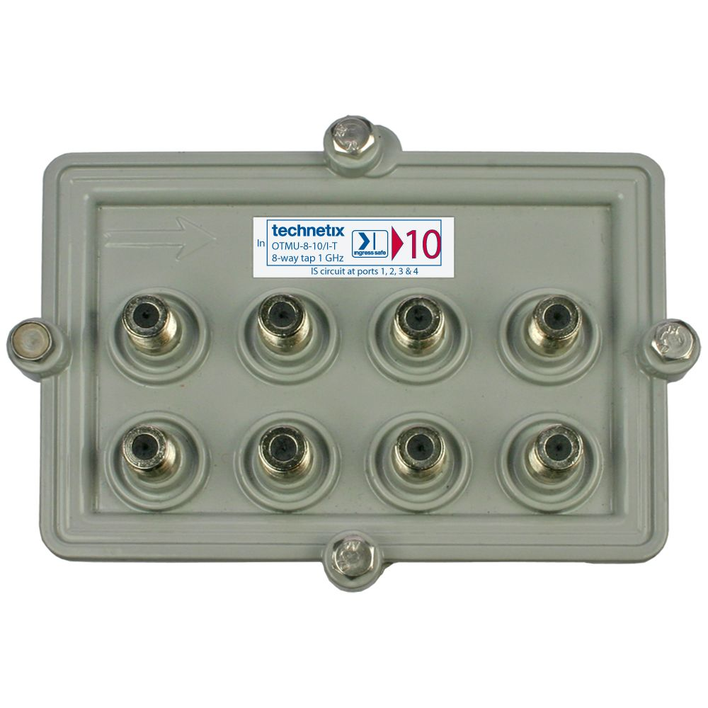 8-way 1 GHz 10 dB Motorola-style wide body outdoor tap