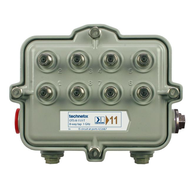 TAP; OUTDOOR TAP SA 1GHZ CONDITIONING 8 PORT 14DB INGRESS SAFE 12AMP