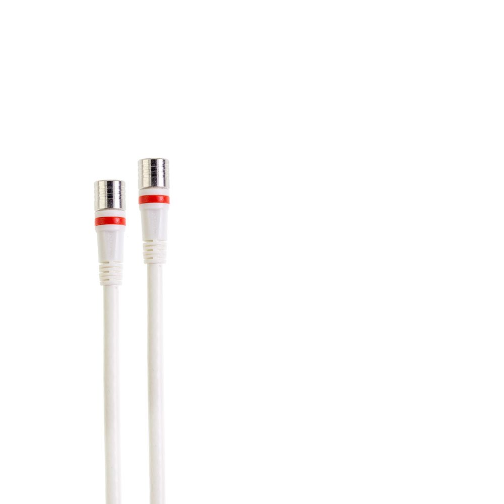 1.5-meter RLA++-series white F-male to F-male jumper cable