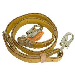 STRAP; POLE 7 FEET LEATHER WITH NYLON INSERT AND HL STYLE SNAPHOOK