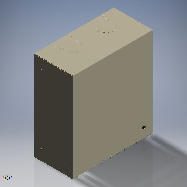 BOX; BEAST HINGED-LID H18XW15XD8 INCHES GRAY PEM MOUNTED PLYWOOD BACKBOARD TANDARD KNOCKOUTS *LOCK NOT INSTALLED MUST ORDER SEPARATELY * CONFIGURED FOR PADLOCK STYLE DE470-0-DX**