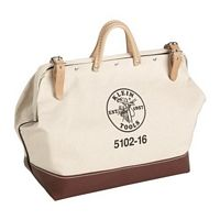 BAG; TOOL CANVAS/LEATHER 12 X 10 X 6 INCH