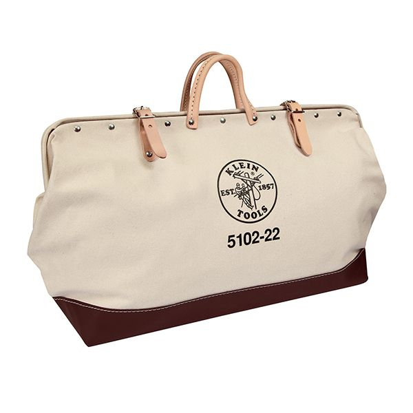 BAG; TOOL 22 X 15 X 6 INCH CANVAS/LEATHER