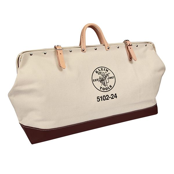 BAG; TOOL 24 X 15 X 6 INCH CANVAS/LEATHER