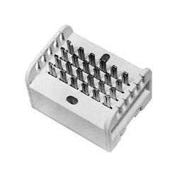 BLOCK 2PR 66-TYPE 66B BLOCK W/ 6 COMMON CLIPS PER CONDUCTOR - ALLOWS 2 TEL NUMBERS TO CONNECT TO 5 EXTENSIONS EACH