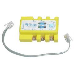 ADAPTER; 6 - WIRE  POLARITY TESTER TWO JACKS FOR NO INTERRUPTION PUSH BUTTON TO CHECK POLARITY AND POWER - PATCH CORD AND BELT CLIP INCLUDED