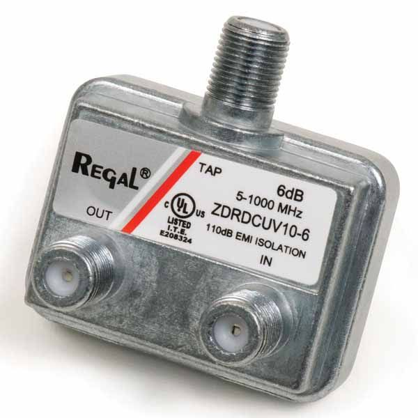 COUPLER; DIRECTIONAL L-TYPE 9 DB DIGITAL CAPABLE WITH 360 CONICAL SEIZURE MECHANISM FLAT F-PORTS UL LISTED 110 DB EMI ZINC PLATED