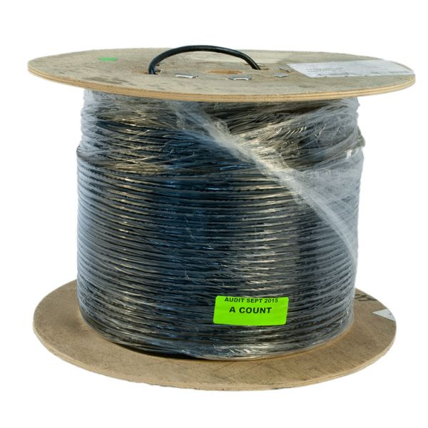 WIRE; CAT5E OSP 4PR 24AWG BLACK NON-ARMORED PE JACKET OUTDOOR FLOODED UV & ABRASION RESISTANT 1000FT REEL - JACKET .23IN OD - 25LB PER 1KFT - COLOR CODE B/BW O/OW G/GW BR/BRW