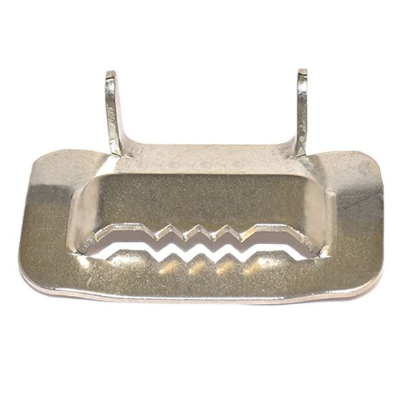 BUCKLE; 1/2IN STAINLESS STEEL BUCKLE TYPE 201 100EA PER PKG