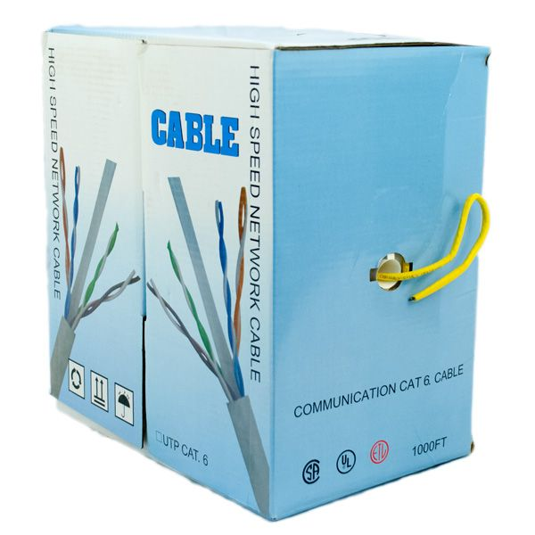 WIRE; CAT6 UTP CMR 4PR 23 AWG YELLOW PVC JACKET 1KFT BOX