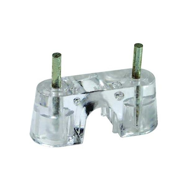CLIP; CABLE CLIP CLEAR RG59 WITH TWO 7/8 INCH NAILS
