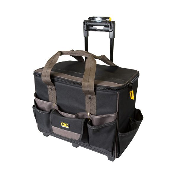 "BAG; LIGHTED HANDLE 17"" ROLLER BAG 17 POCKETS BUILT-IN SWIVE"