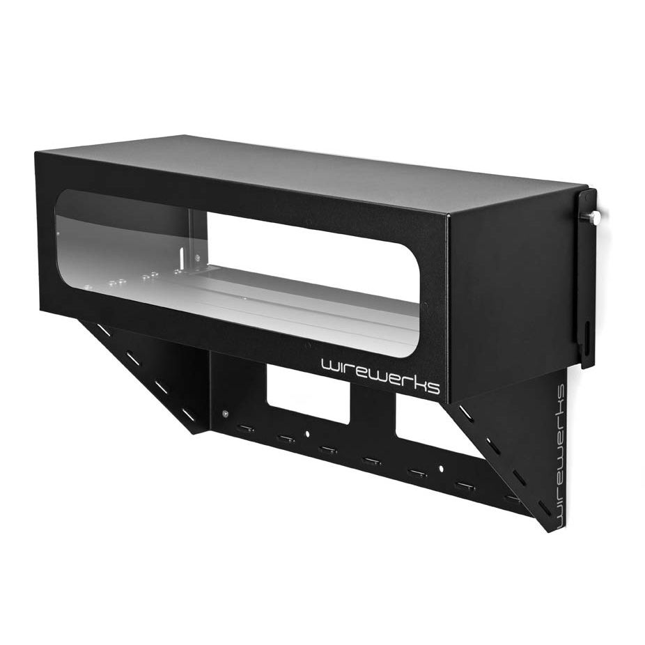 PANEL; LGX 4RU WALL MOUNT VERTICAL RACK SPACE WITH COVER